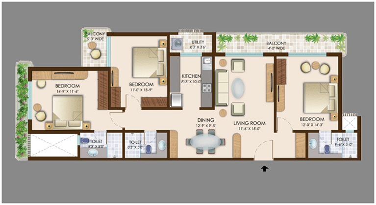 Duplex interior design for 3 bhk flat interior designs