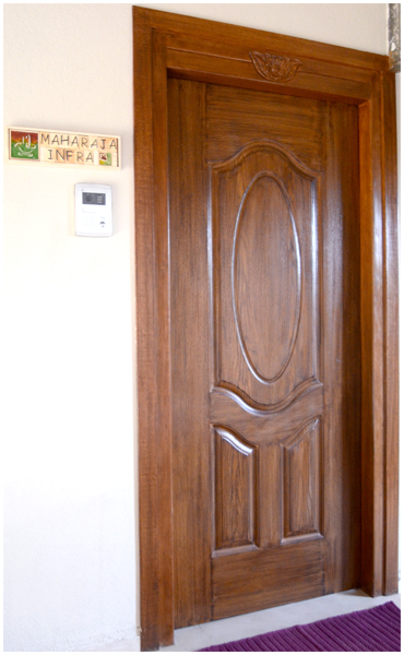 Maharaja infra for Entrance door design for flats